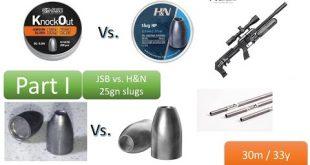 مقارنة بين رصاص HN 25 و  Kncok Out