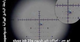 رماية 235 متر رصاص سلق slugs jsb بندقية امباكت باور بلينيوم